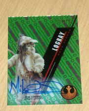 2016 Topps Star Wars TEK GREEN autograph SW-11 LOGRAY Mike Edmonds 8/10