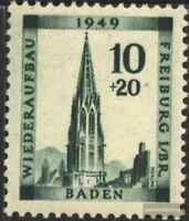Franz. Zone-Baden 39A postfrisch 1949 Freiburg
