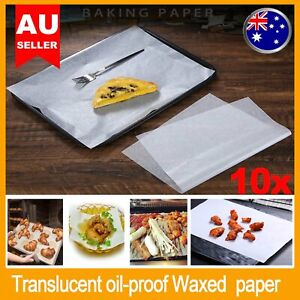 10x Wax Paper A4 Size 21x30cm Non-Stick Wrapping Food Grade Moisture-Proof Paper