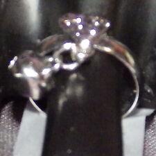 New Toe Ring Stainless Steel Heart Bell Tassel Open Adjustable for Women