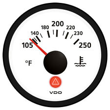 VDO Viewline Ivory 250°F Water Temperature Gauge 12/24V - Use with VDO Send