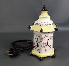 Japanese Pagoda Porcelain perfume Oil scent Fragrance Lamp Light Cherry Blossoms