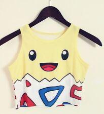 Pokemon Go Togepi Crop Top 6 8 10 Cosplay Pikachu T-shirt BNWT Milk Black