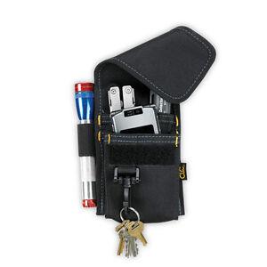 CLC 1104 - 4 POCKET MULTI-PURPOSE ACCESSORY ACCESSORIES TOOL HOLDER POUCH w/CLIP