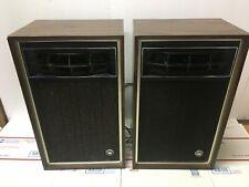 """2x Vintage Air Suspension Audio System Bookshelf Speakers 18"""" x 11"""" x 7.5"""" Pair"""