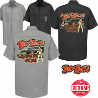 Hot rod 58 Rockabilly Car Garage Work Shirt GREASE GAS Classic Vintage Clothing
