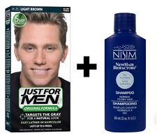 Sólo para hombres Champú en color de cabello tinte pelo para hombre marrón claro + Nisim shampoo