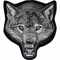 Embroidered Wolf Head Iron On Patch Sew On Embroidery Badge Werewolf Applique