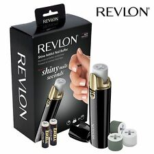 Revlon Shine Addict Nail Buffer Micro-Grain Electrical Battery Polish Manicure