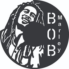 DXF Files CNC Plasma Router Laser Cut Ready To Cut - Bob Marley - Vinyl Clock