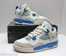 Nike Air Jordan 4 IV Retro Size 6y - Blue White Grey - 408452 105