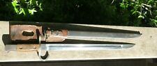 WW2 Imperial JAPANESE TYPE 30 Bayonet JINSEN RIKUGUN ZOHEISHO ARSENAL w/ Frog
