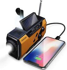 FosPower Emergency Solar Hand Crank Portable Radio, Noaa Weather Radio