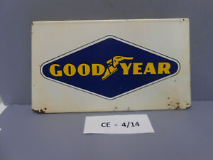 Rare Vintage Original Goodyear Tire Metal Display Stand Sign, Gas & Oil