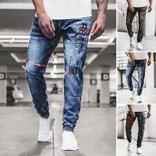 Jeans Jogger Trainingshose Freizeithose Fitness Röhrenjeans Herren OZONEE 11174