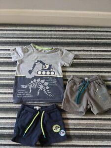 Boys Summer Outfit Short T-shirt Set Dinosaur 18-24 Months Bluezoo