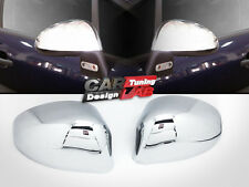 (2) Chrome Side Door Mirror Cap Overlay Cover for 2005-up Citroen C4