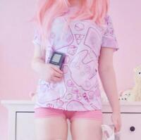 DDLGWorld GAME OVER! Yami Kawaii T-Shirt - Harajuku Pastel Goth Fashion