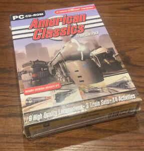New Sealed American Classics Train Sim Pack Add On Microsoft Train Simulator CIB