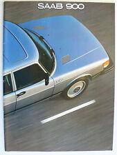 Prospekt Saab 900/S/Turbo Modelle 1981, 1980, 38 Seiten, englisch für Canada