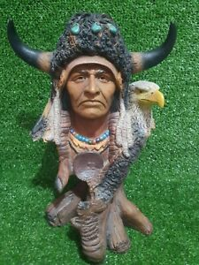 'BETRAYAL' Neil J Rose Native American Indian Limited Edition Statue Bust - 33cm