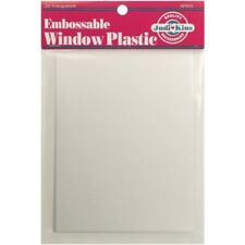 Embossable Window Plastic Sheets 11cm X 14cm 20/pkg Clear. HUGE Saving