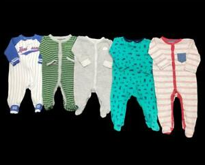 Baby Boy 3 Months 3-6 Month Carter's Baseball Cotton Sleeper Pajama Clothes Lot