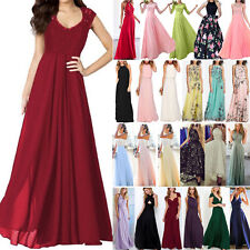 Womens Long Lace Evening Formal Cocktail Party Ball Gown Bridesmaid Maxi Dress