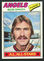 Bob Grich #521 signed autograph auto 1977 Topps Baseball Trading Card