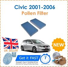 For Honda Civic Type R EP3 EU MK7 2001-2006 2 Cabin Pollen Filters BLUEPRINT New