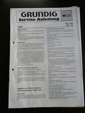 Original Service Manual  Grundig  RF 1100 RF 110
