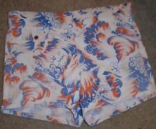 RARE! Mens VINTAGE 50s  Graphic DIVING SWIMMING Bathing SWIM TRUNKS 34