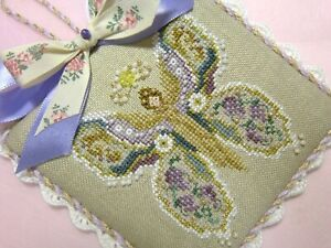 finished completed JUST NAN Amber (Glorious Wings) cross stitch ornament