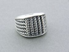 DAVID YURMAN MARITIME 5 ROPE WIDE 3 SIDED RING SIZE 9 1/2
