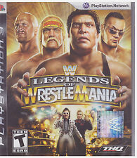 WWE LEGENDS OF WRESTLEMANIA (Sony Playstation 3, 2009) INCLUDES INSTRUCTIONS