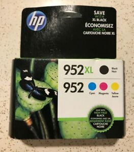 HP 952XL Black 952 Tri Color Ink Combo Pack Genuine Expired SEPTEMBER 2020