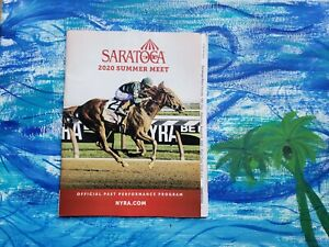 2020 Travers Stakes Program Tiz The Law Horse Racing