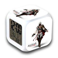ASSASSINS CREED Cosplay 7 Color Change 3D Night light Digital Alarm Clock