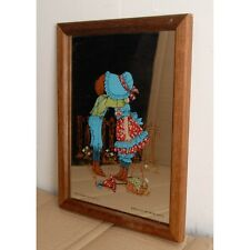 """Vintage Aspell Saggers Mirror Titled """"Love is Contagious"""""""