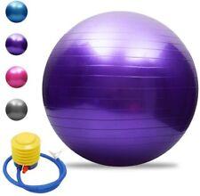 Gymnastikball Sitzball Fitness Yoga Ball Pilatesball Sportball mit Pumpe 75cm