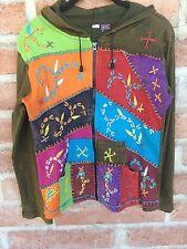 S Jacket Hoodie Boho Hippie Gypsy Yoga Cotton Nepal Handmade Embroidery KPC NEW