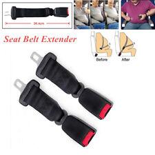2X 36cm Black Adjustable Car Seat Seatbelt Safety Belt Extender Extension Buckle