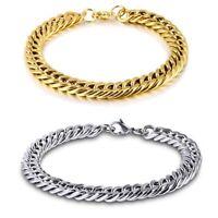 Unisex's Men Stainless Steel Chain Link Bracelet Wristband Bangle Jewelry Punk