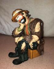 """Limited Edition Emmett Kelly Jr Clown Sitting on Box, 6.25"""" Tall"""