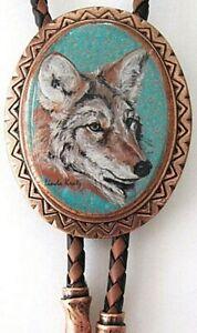 Classic Coyote Bolo Tie