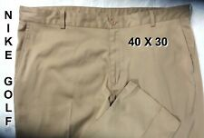 Mens Nike Dri-Fit Golf Tech Performance Pants Flat Front Tan color 40X30