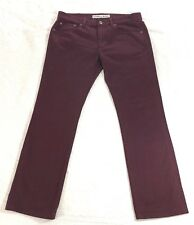 EXPRESS Men's Jeans Sz 34-32 Rocco Slim Fit / Skinny Leg  100% Cotton Garnet