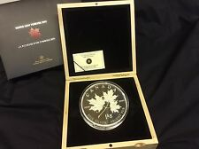 """New lower price! 1kg $250.00 Silver coin """"Maple Leaf Forever"""""""