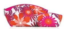 2pc Clinique Autumn Colorful Floral Cosmetic Bag Purse