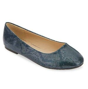 Womens Blue Shoes Size 7 Extra Wide Fit Ultra Navy Ballerina Flat Low Heel Pumps